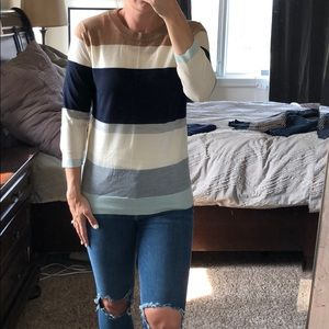 J. Crew striped sweater. NEW with tags
